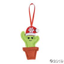 Cactus Santa Hat Ornaments - $25.00