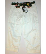 New NWT Designer 2 Womens Dolce & Gabbana White Pants Crop Italy 38 Flow... - $695.00