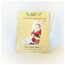Complete X Stitch Stocking Kit! Counted Cross Stitch Santa on Rooftop 50168 NEW - $11.88