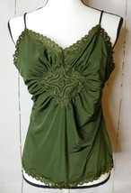 The Limited Womens Size L Olive Green Sleeveless Spaghetti Strap Camisol... - $14.99