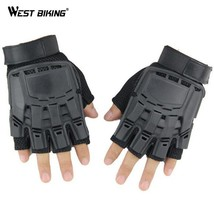 WEST BIKING Cycling Gloves Half Finger Shell Guantes Ciclismo Sports Tac... - $23.40