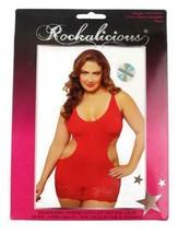 NEW ROCKALICIOUS WOMEN'S STRETCH MINI SEXY LINGERIE DRESS PLUS SIZE RED #R105X image 1