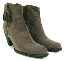 Stuart Weitzman Womens Ankle Boots Size 7.5 M Gray Suede Prancing Mist V... - $102.13