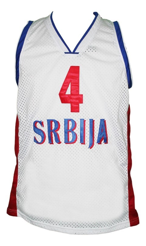 Milos teodosic team serbia basketball jersey white   1