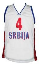 Milos Teodosic Team Serbia Basketball Jersey New Sewn White Any Size image 1