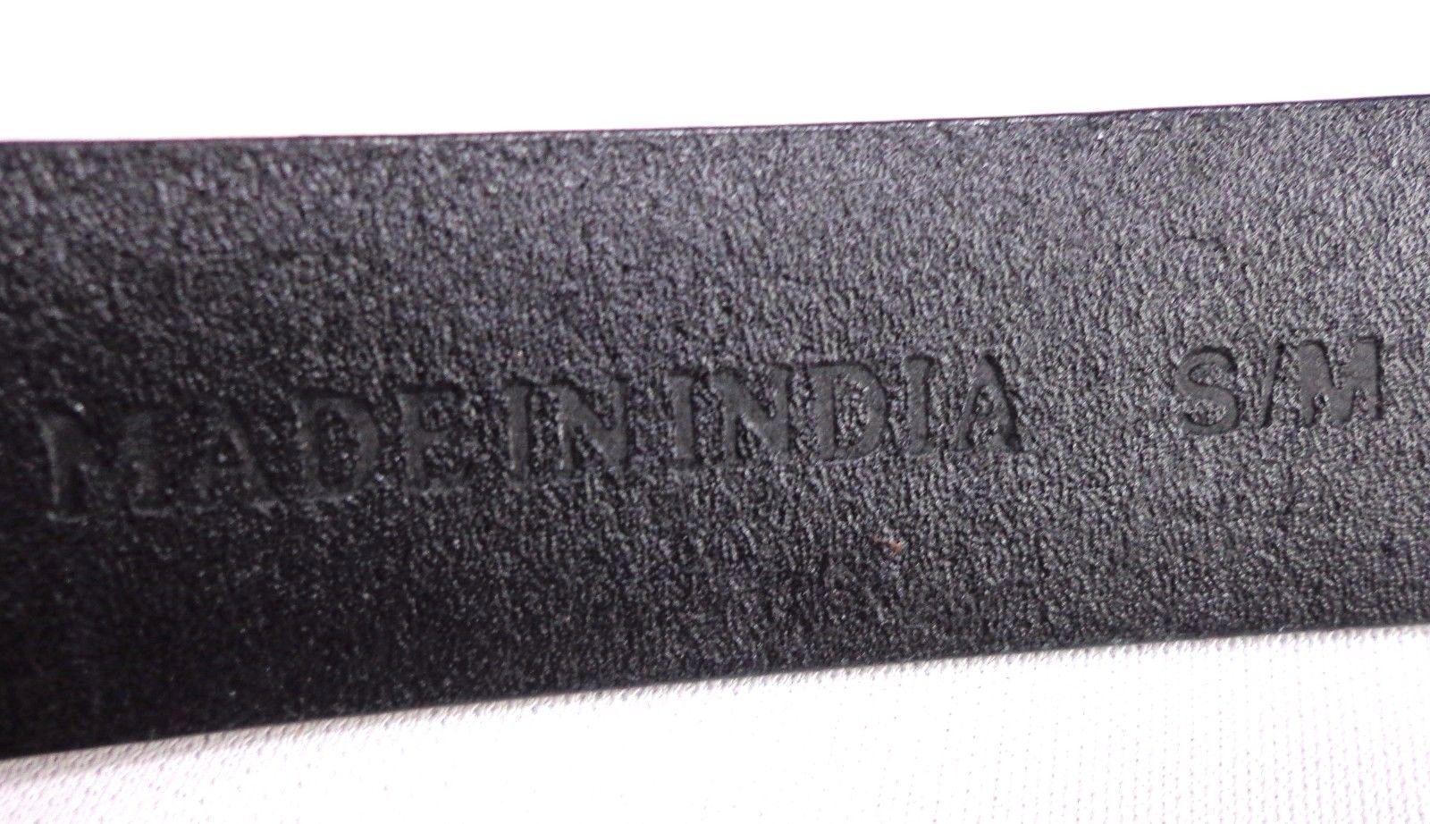 Chico's Womens Adjustable Slide Belt Black Leather Size S / M