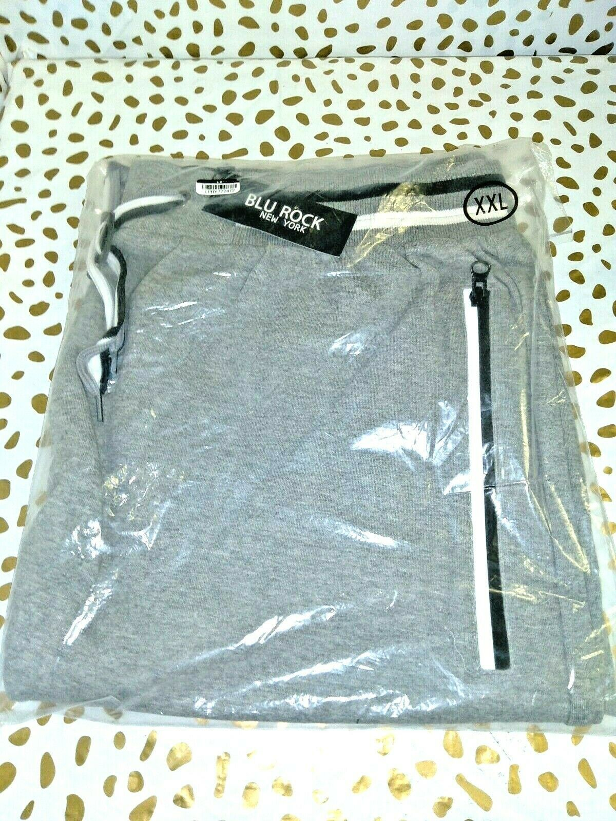 Blu Rock New York  jogger/athletic shorts with zipper pockets Size XXL FREE/SHIP