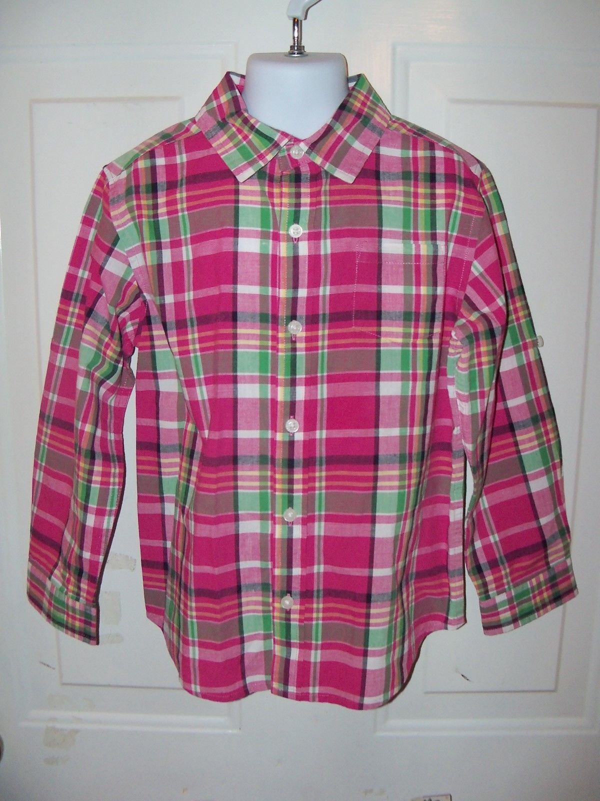 Primary image for JANIE AND JACK PLAID BUTTON DOWN SHIRT SIZE 5 GIRL'S NWOT