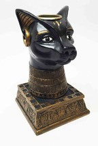 ANCIENT EGYPTIAN GODDESS BASTET DEITY CANDLE HOLDER RESIN FIGURINE SCULP... - €17,64 EUR