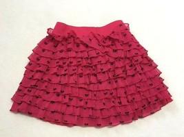 Gap Kids S 6 7 Roman Holiday Pink Bow Tiered Crinkle Ruffle Skirt Girls - $8.99