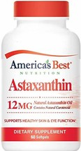 America's Best Nutrition Natural Astaxanthin Oil 12MG - 60 Softgels - Natural An