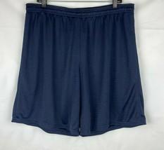 Champion Men's Mesh Shorts Size XL Navy  - $10.55