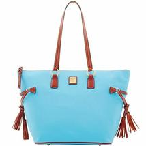 Dooney & Bourke Tassel Executive Tote Sky Blue