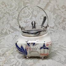 Vintage, Sandland, Yeoman Plate, Gaudy Blue Willow 3pc Jam Jar 6in x 3.5in sq - $56.95