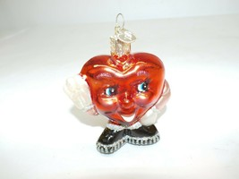 """Old World Christmas Be Mine Valentine Heart 2.5"""" Glass Ornament - $8.90"""