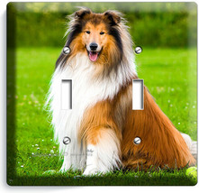 GORGEOUS ROUGH COLLIE DOG 2GANG LIGHT SWITCH WALL PLATE GROOMING PET SAL... - $12.99