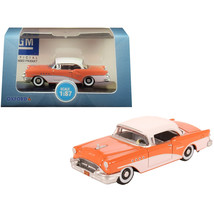 1955 Buick Century Coral and Polo White 1/87 (HO) Scale Diecast Model Ca... - $20.97