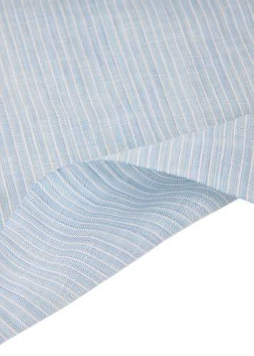 55'' Wide Home Linen Fabrics Striped Flax Fabric Skyblue (17.5 55 Inches)