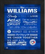 "Toronto Blue Jays ""Family Cheer"" 13 x 16 Framed Print - $39.95"