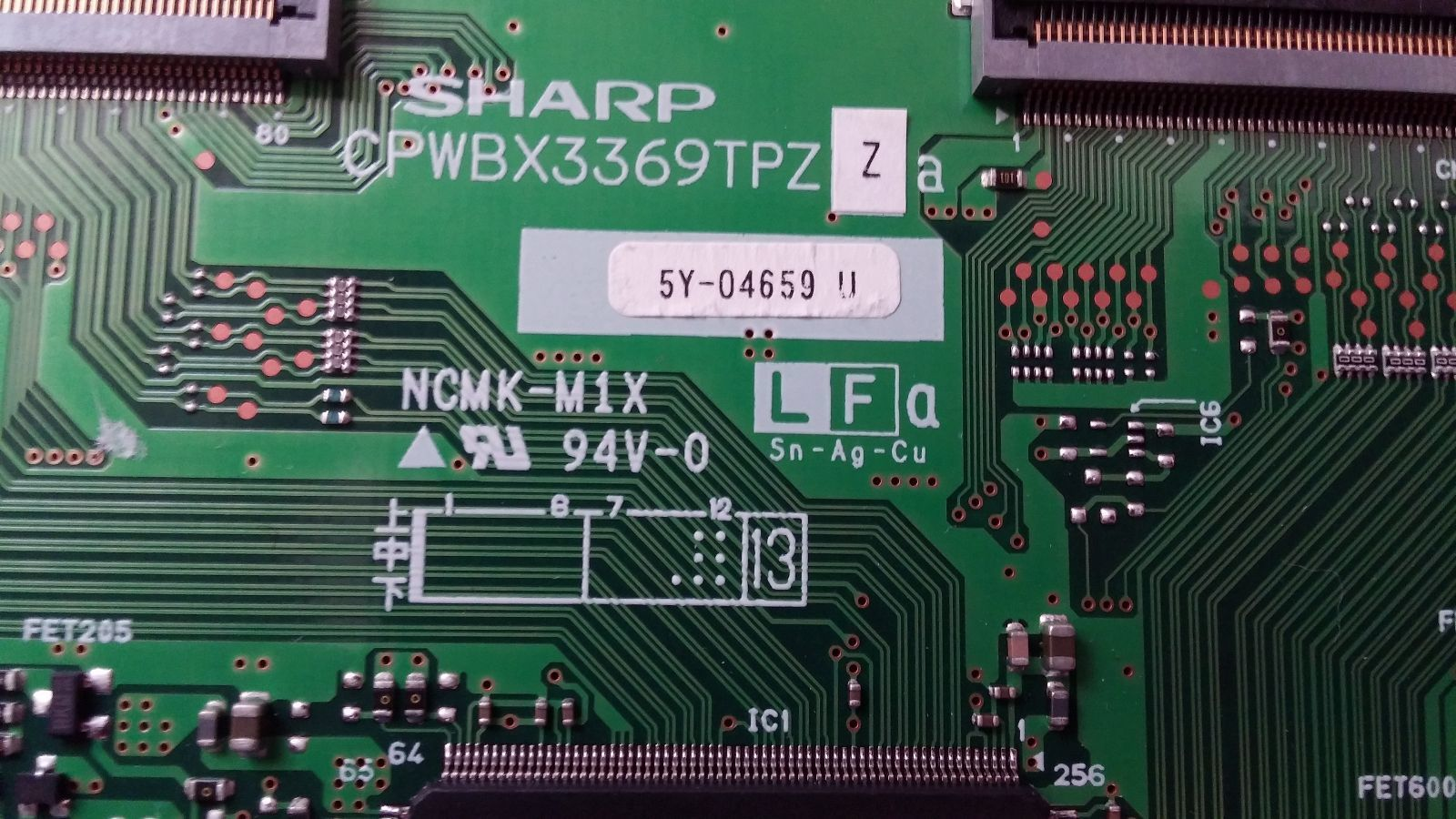 Sharp T-Con Board CPWBX3369TPZ **FREE SHIPPING**