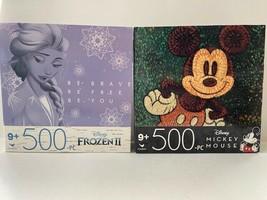 Walt Disney 500 Piece Jigsaw Puzzles - Mickey Mouse & Frozen 2 Be Brave - $18.29