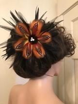 Polynesian Style Feather Hair Pick, Tribal Up-Do Hair Wear,Hawaiian Wear... - $70.00