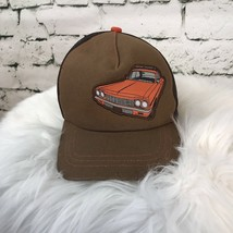 Small Paul Ball Cap Brown Adjustable Youth Boys With Car - $7.92