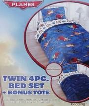 Disney Planes Dusty Movie Blue Twin Comforter Sheets 4PC Bedding Set New - $92.60