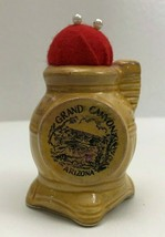 Vintage Red Pin Cushion Grand Canyon Arizona Ceramic Pot Belly Stove Japan - $10.12