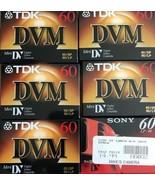 6 lot Digital Mini DVC 60 Tapes 5 TDK & 1 Sony FILM Blank Video Tape New... - $13.54