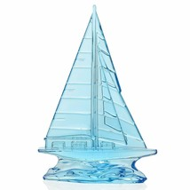 """Waterford Crystal Tall Light Blue Sailboat Sculpture 9"""" New In Box # 400... - $180.92"""