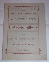 Antique catalog & Price List 1889-1890 A. Dunne & Co. Oilographs Picture... - $35.00