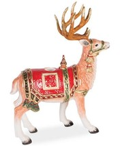 Fitz and Floyd Holiday Tidings Standing Deer Candleholder NEW - $59.99