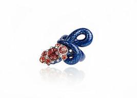 Roberto Cavalli Womens Blue Red Swarovski Serpent Ring Size 14~RTL$822 - $280.25
