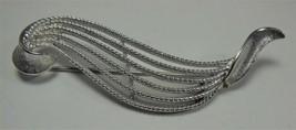 Vintage Monet Silver Tone Modern Pin Brooch - $12.86