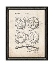 Soccer Ball Patent Print Old Look with Black Wood Frame - $24.95+