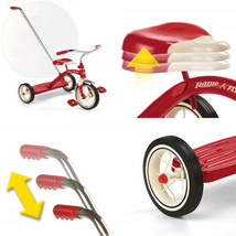 Radio Flyer Classic Tricycle with Push Handle, Red  - $161.83