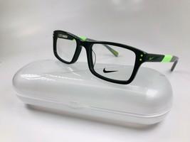New KIDS NIKE 5537 300 Cargo Khaki & Flash Lime  Eyeglasses 47mm with Nike Case - $69.25