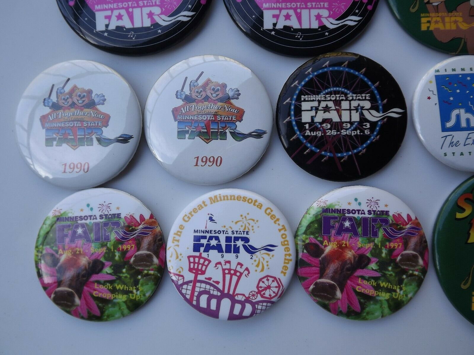 Large Lot of Minnesota State Fair Pinback Buttons Various Years image 3