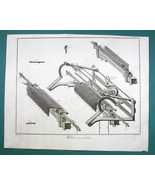 1763 DIDEROT PRINT - Stocking Frame Knitting Machine Expanded View no. 4 - $19.80