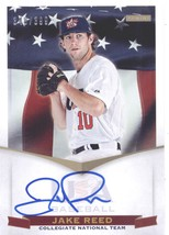 2012 Panini USA Baseball Collegiate National Team Signatures #17 Jake Reed NM-MT - $8.00