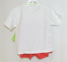 Snopea Two Piece Boys Short Set Race Cars Red Shorts White Shirt Size 18 Months image 2