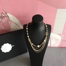 100% AUTHENTIC CHANEL CC LOGO MULTI CHAIN PEARL LONG NECKLACE GOLD LIMITED EDITI image 8