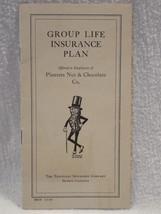 Vintage 1920's Planters Peanut Mr Peanut Group Life Insurance Plan Book - $17.95