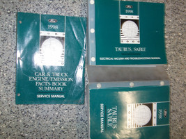 1998 Ford Taurus Service Shop Repair Workshop Manual Set OEM W EVTM + - $44.46