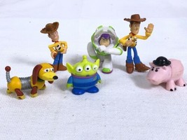 Toy Story Cake Toppers Figures PVC Disney Lot of 6 Buzz Woody More - $8.81