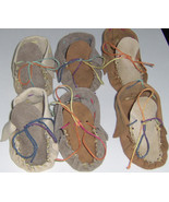American Made! Leather Baby Moccasins, First infant Moccasins Suede Leat... - $27.95
