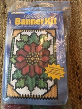Poinsettia Beaded Banner Kit NEW #5306 The Beadery Craft Products - $22.28
