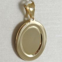 Oval Medal Pendant Gold Yellow White 750 18k Virgin Mary and Jesus, Madonna image 3
