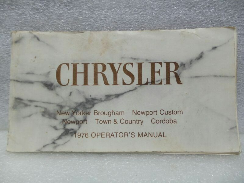 CHRYSLER NEW YORKER NEWPORT CORDOBA TOWN & COUNTRY 1976 Owners Manual 16408